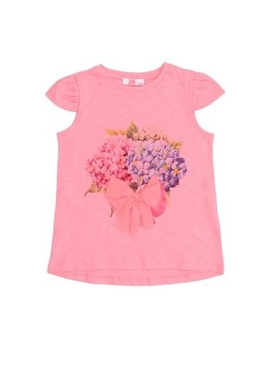 Pink&Orange Tişört Pembe